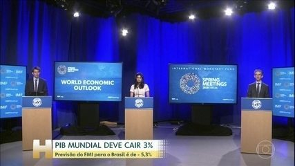 FMI prevê queda de 3% no PIB mundial; Brasil deve ter queda de 5,3%