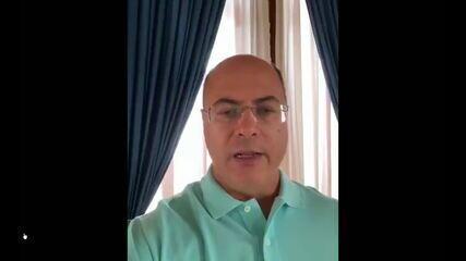 Wilson Witzel anuncia que está com o novo coronavírus