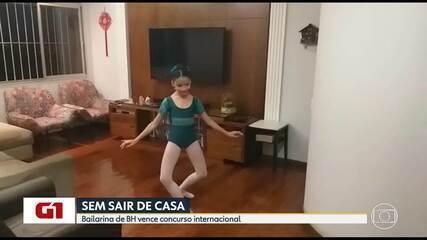 Isolamento: Bailarina de BH vence concurso da Royal Academy of Dance sem sair de casa