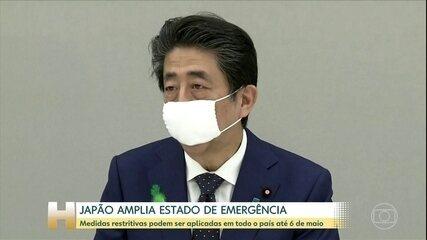 Japão anuncia extensão do estado de emergência para todo o país