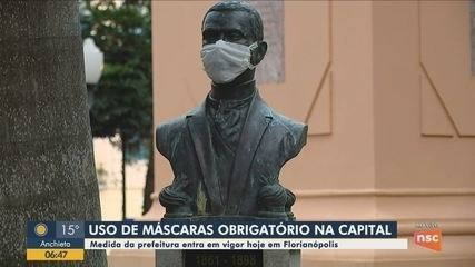 Uso de máscaras se torna obrigatório em Florianópolis