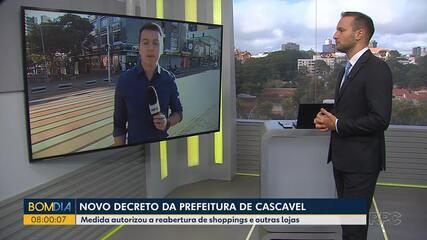 Novo decreto autoriza reabertura de shoppings em Cascavel