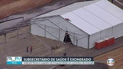 Reportagem de 11/4, quando ex-subsecretário foi exonerado por suspeita de irregularidades
