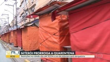 Niterói prorroga a quarentena até o final da abril