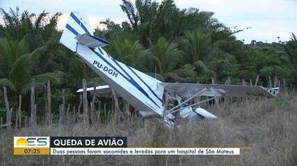 Avião cai em Jaguaré, no Norte do ES.