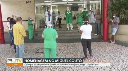 Funcionários do Miguel Couto fazem homenagem a colega que morreu com suspeita de Covid-19
