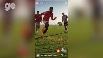 Atleta piauiense, Cesinha treina com profissionais do Internacional