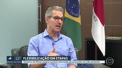 Governo de Minas define plano para retomar economia gradativamente