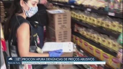 Procon faz fiscalização de estabelecimentos com preços abusivos