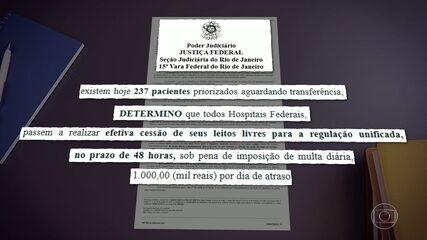 Justiça determina liberação de leitos para Covid-19 de hospitais federais em 48 horas