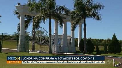 Londrina confirma a décima morte por Covid-19