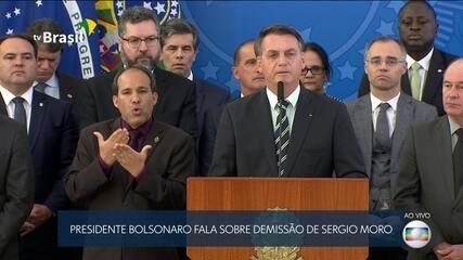 Presidente Bolsonaro fala sobre demissão de Sergio Moro