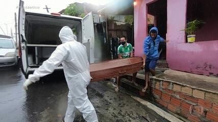Manaus vive cenário de caos nos hospitais e nos cemitérios por causa do coronavírus
