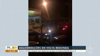 Jovens ignoram recomendações de isolamento social e fazem festa em Volta Redonda