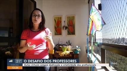 Professores de SC falam sobre desafios com nova rotina de trabalho
