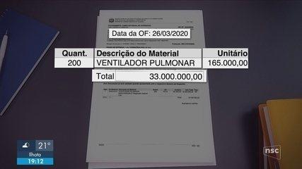 Governo de SC paga R$ 33 milhões por respiradores que nunca chegaram