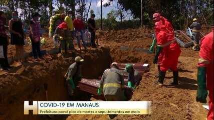 Manaus prevê mais de 4 mil sepultamentos no mês de maio