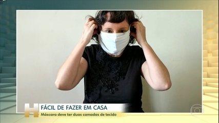 Aprenda a fazer as máscaras caseiras respeitando algumas regras
