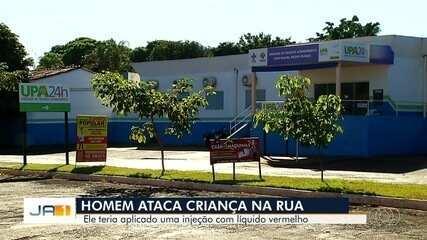 Menino denuncia que foi atacado por homem com seringa em Santa Helena de Goiás