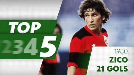 Top de gols artilheiros do Brasileirão: Zico 1980