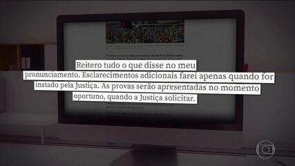Moro diz que apresentará provas de tentativas de interferência de Bolsonaro na PF