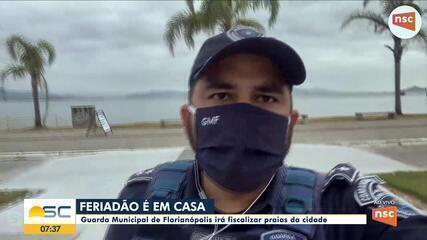 Guarda Municipal fala sobre fiscalização durante o feriado em Florianópolis