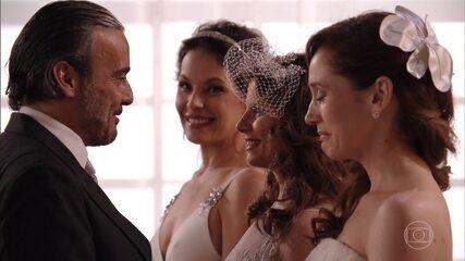 Cadinho se casa com Verônica, Noêmia e Alexia