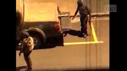 Vídeos mostram ação de quadrilha que levou pânico aos moradores de Ourinhos