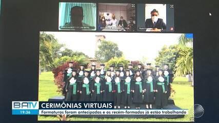 Medicina: Por causa do cornavírus, cerimônias de formatura são realizadas pela internet