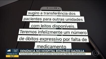 Hospital referência no tratamento à Covid-19 é investigado por falta de remédios