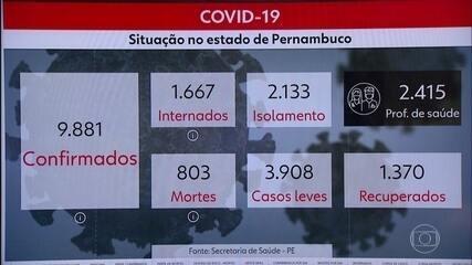 Pernambuco confirma mais 556 casos de coronavírus e 54 mortes por Covid-19