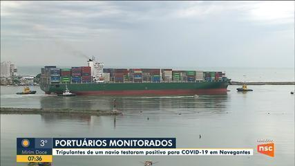 Portuários de SC são monitorados após tripulantes de navio testarem positivo para covid-19
