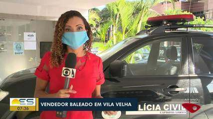 Vendedor é baleado em Vila Velha