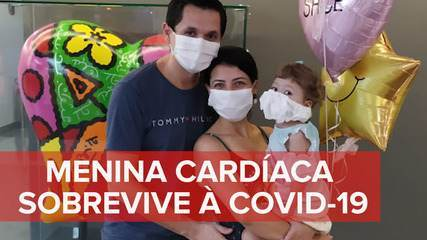 Menina cardíaca sobrevive ao coronavírus e recebe alta no dia