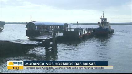 Balsas que fazem travessia entre Cabedelo, Lucena e Santa Rita têm novo horário