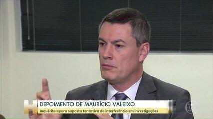 Ex-chefe da PF chega para prestar depoimento em inquérito sobre acusações de Moro