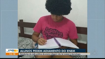 Estudantes da Paraíba relatam dificuldades no estudo durante quarentena