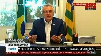 Governador de Goiás avalia aumentar restrições com novo decreto