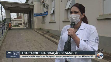 Banco de Sangue da Santa Casa de São Carlos faz agendamentos pelo WhatsApp