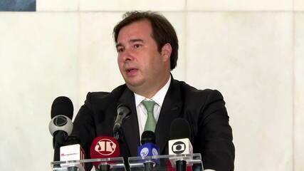 'A minha obrigação é manter sempre o diálogo', diz Maia após encontro com Bolsonaro