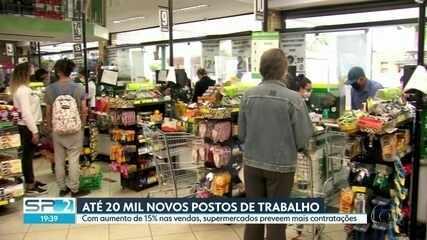 Supermercados preveem até 20 mil novos postos de trabalho