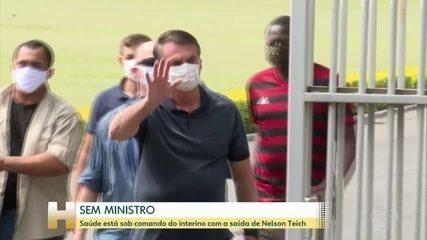 Ministério da Saúde está sob comando do interino com a saída de Nelson Teich