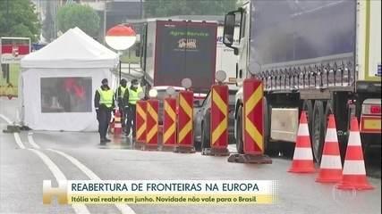Itália anuncia a reabertura das fronteiras com a União Europeia a partir do dia 3 de junho