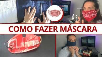 'Como fazer máscara de tecido?' Série do G1 testa alternativas caseiras