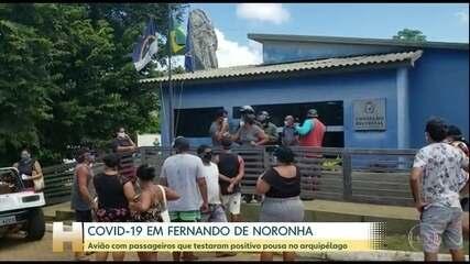Grupo de servidores públicos com a Covid-19 chegam em Fernando de Noronha
