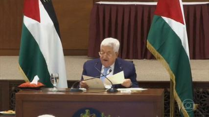 Palestina anuncia retirada de todos os acordos assinados com os EUA e Israel