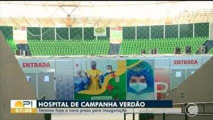 Prazo para conclusão do hospital de campanha no estádio Verdão expira nesta quarta (20)