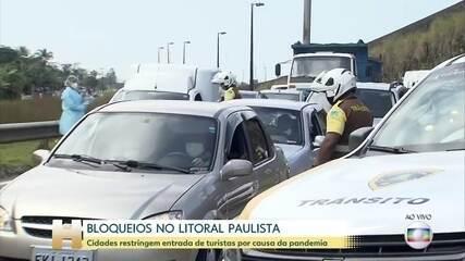Coronavírus: Bloqueios impedem acesso de turistas no litoral sul de São Paulo