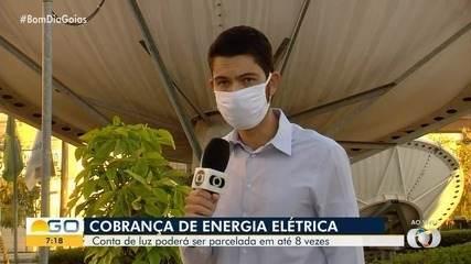 Conta de luz atrasada pode ser paga dividida em oito vezes, em Goiás