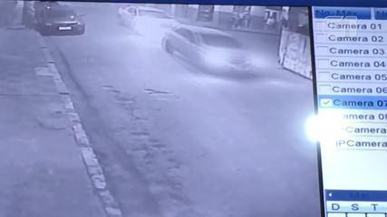 Vídeo mostra veículo batendo no carro do presidente da Câmara de Ubaporanga